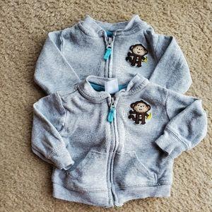 Carters newborn 2 sweaters